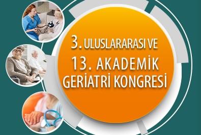 3. Uluslararası ve 13. Akademik Geriatri Kongresi 8 –12 Nisan 2020'de düzenlenecek